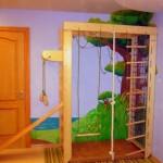 Спортивный уголок в детской комнате