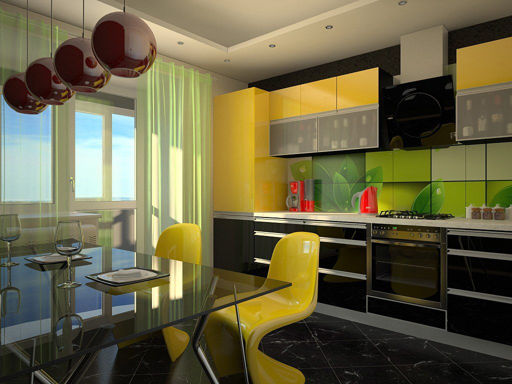 Красивый интерьер кухни в квартире