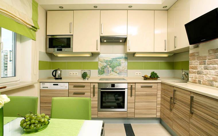 Дизайн угловой кухни 9 кв.м