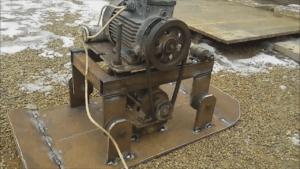 Виброплита с электродвигателем от стиральной машины 16