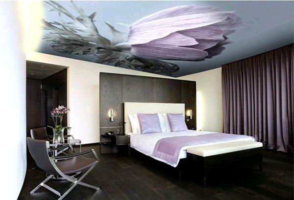Тканевые потолки можно украсить фотопечатью