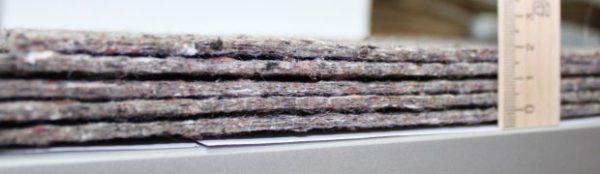 Толщина льняной подложки чаще всего составляет 4-5 мм