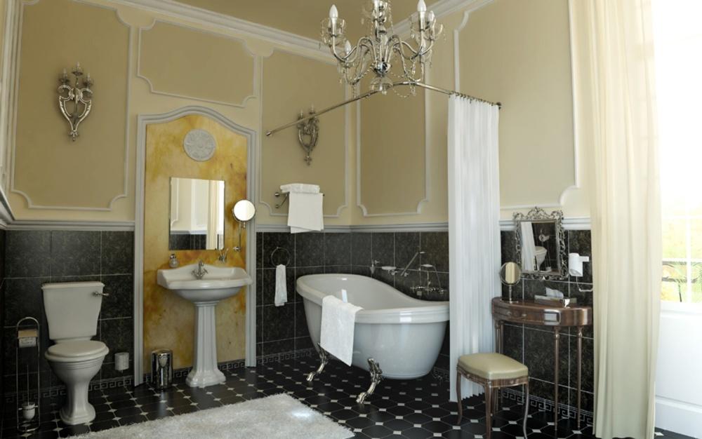 Туалетная комната в классическом стиле