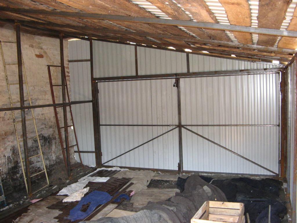 Каркасный гараж из профильной трубы своими руками 144