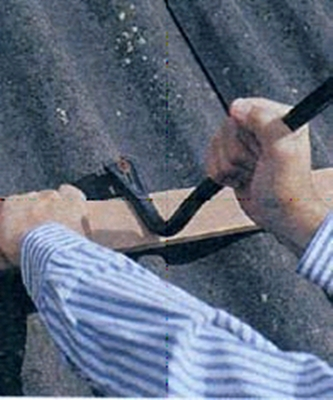 Чем залатать шиферную крышу своими руками