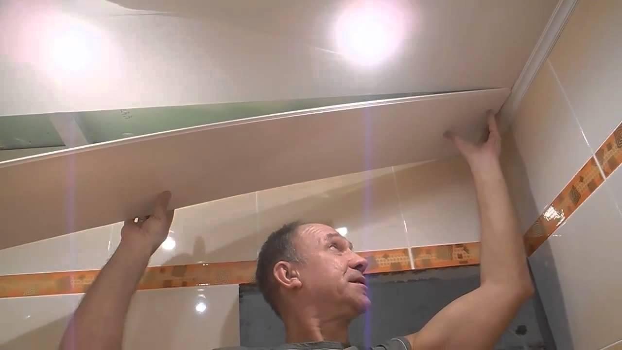 Потолок из пвх в туалете