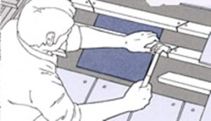 Установка новых участков рейки над заплаткой