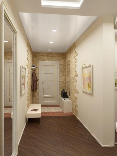 Узкие помещения лучше всего оформлять в стиле минимализм, чтобы не загромождать пространство
