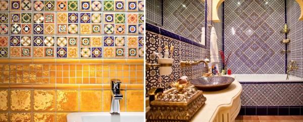 В мелком орнаменте удачно уживаются вставки золотистого, терракотового и насыщенного коричневого цвета