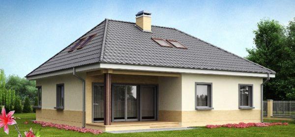 Вальмовая конструкция отличается от двухскатной отсутствием фронтонов