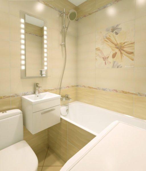 Ванна в светлых пастельных тонах будет казаться более просторной