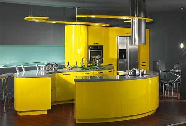 Интерьеры кухни в стиле хайтек