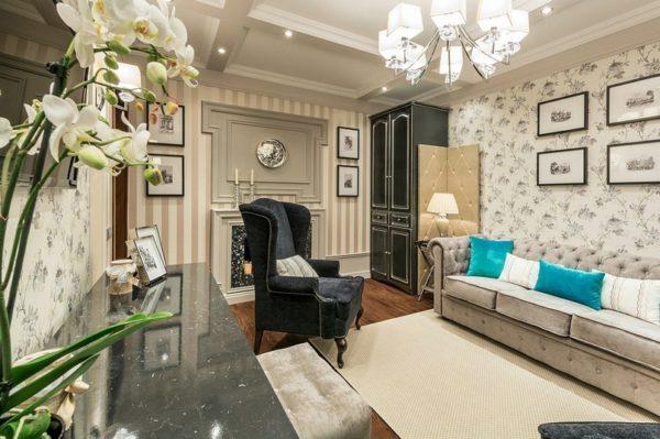 Вариации на тему английской классики в условиях типовой квартиры.