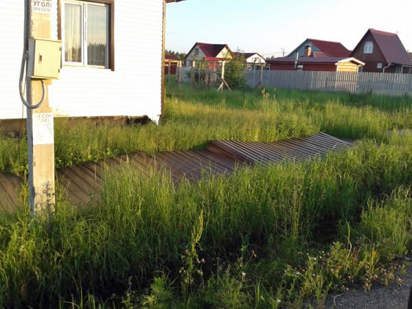 Вот какую картину вы можете обнаружить, если просто закопать столбы в землю