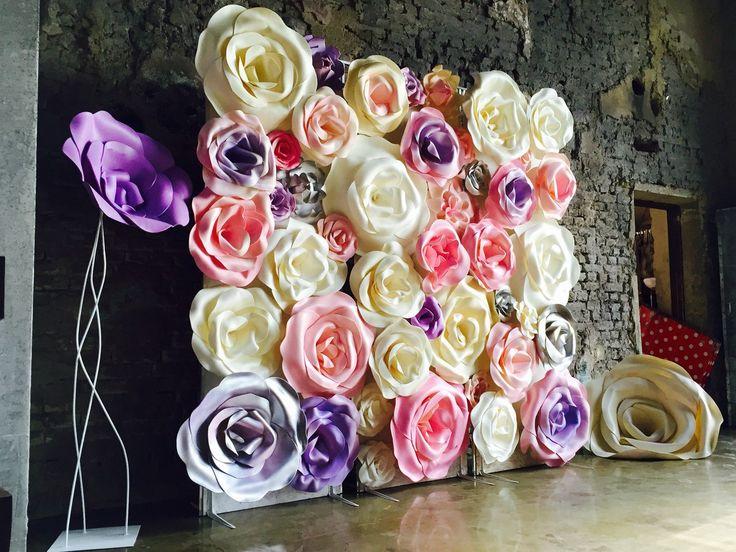 Декоративные большие цветы своими руками