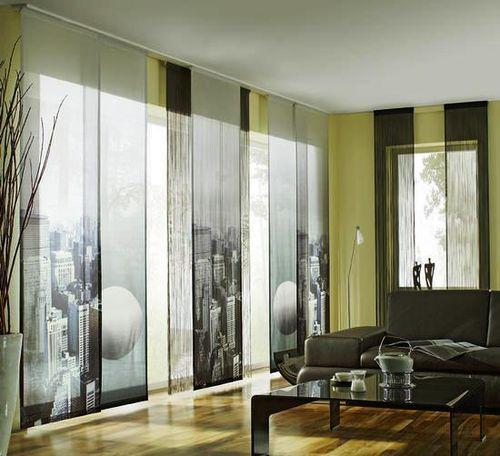 Японские панели с урбанистическим рисунком идеально вписываются в этот стиль