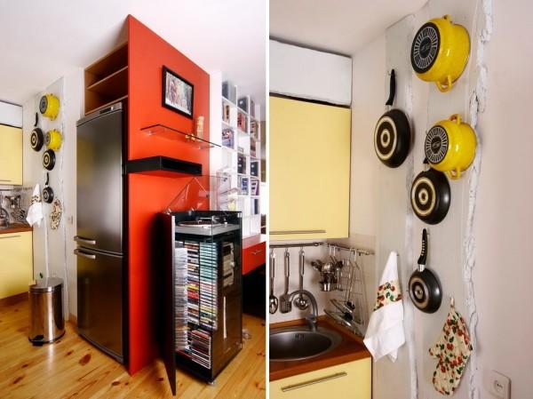 Яркая кухонная утварь способно стать удивительным декором