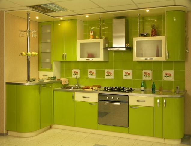 Кухня яркая дизайн
