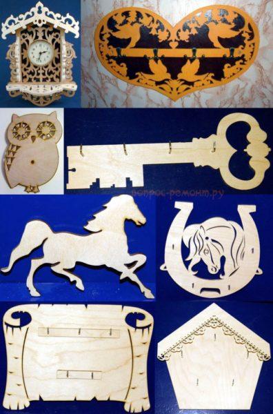 Заготовки из фанеры для ключниц могут принимать самые разнообразные интерпретации