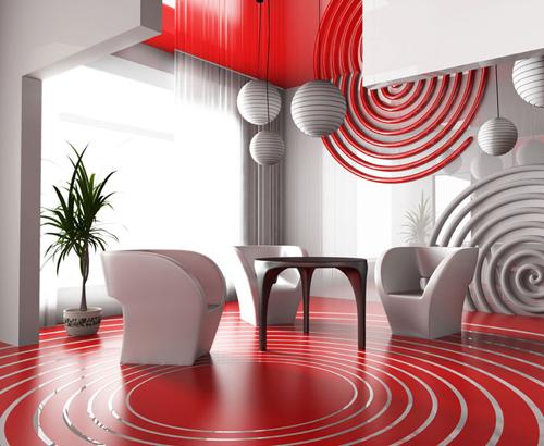 Зал в стиле авангард