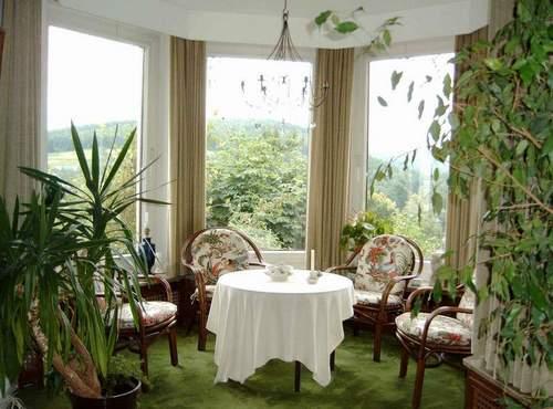 Зеленый ковер в импровизированном зимнем саду создает иллюзию зеленой травы