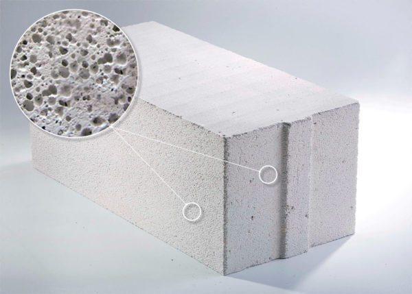 Газобетонные блоки имеют мелкопористую структуру за счет насыщения пузырьками газа.