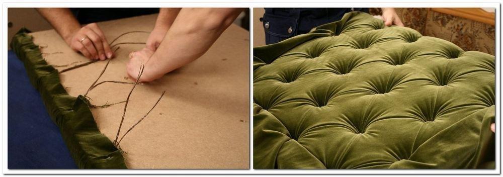 каретная обивка мебели своими руками