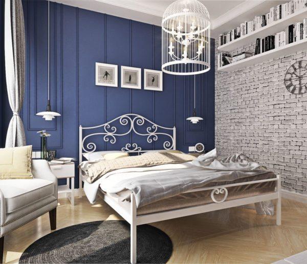 «Афродита» вполне уместно будет смотреться даже в малогабаритной спальне благодаря своим изящным контурам и белой расцветке