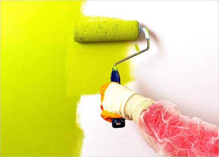 Акриловая краска — это современный экологичный лакокрасочный материал для стен и потолков