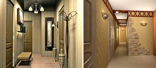 Большое зеркало, вешалки, сиденье и пр. повысят комфортность помещения.