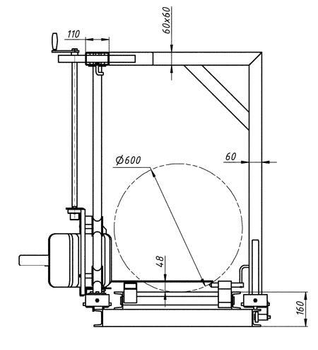 Чертёжная схема изготовления пильной каретки