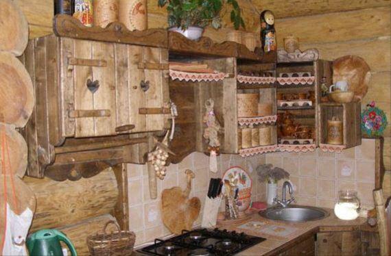 Дизайн дачной кухни