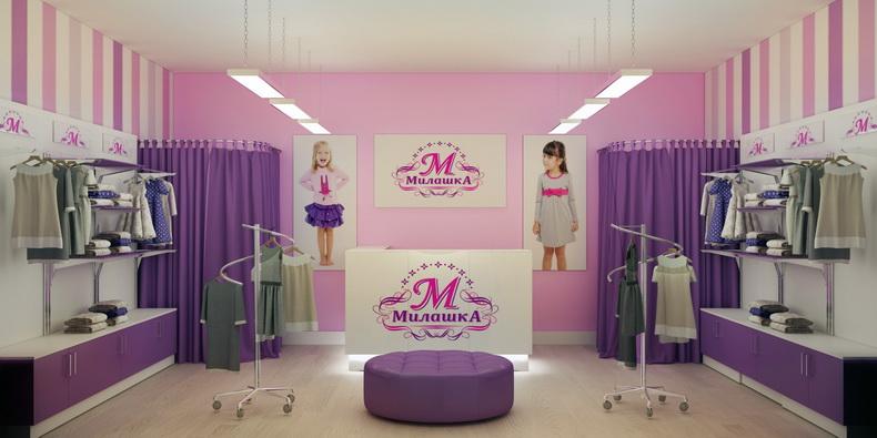 25bfc594343e Дизайн детского магазина одежды и обуви, так же интерьер кафе для детей