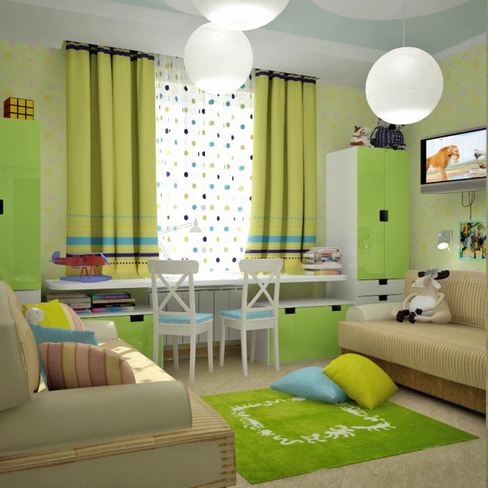 Спальня на двоих детей дизайн 24