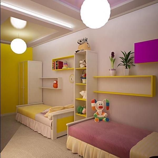 дизайн детской комнаты для двоих детей интерьер маленькой спальни