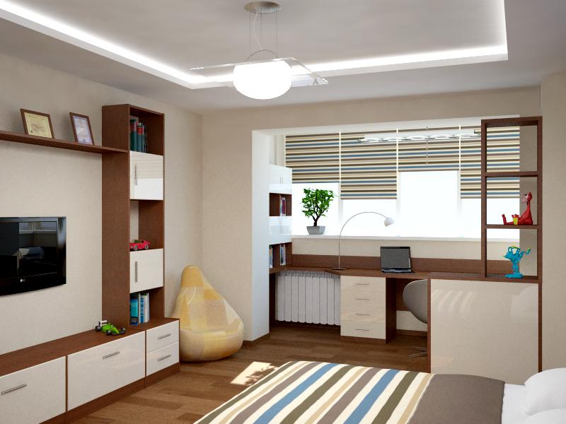 дизайн детской комнаты для мальчика подростка проект интерьера