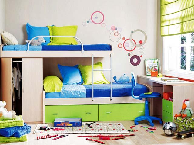 интерьер детской комнаты для разнополых детей дизайн зон мальчика и