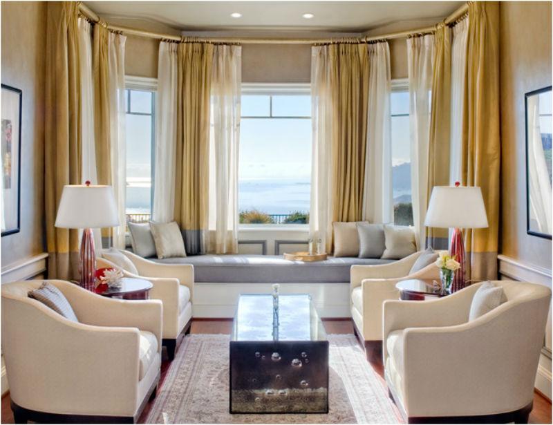 дизайн эркером фото с гостиная комната