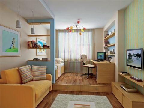 Дизайн гостиной совмещенной с детской