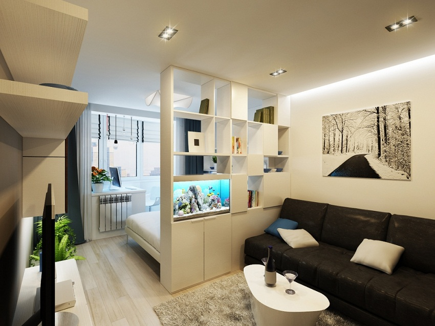 дизайн спальни-гостиной комнаты 15 кв.м фото