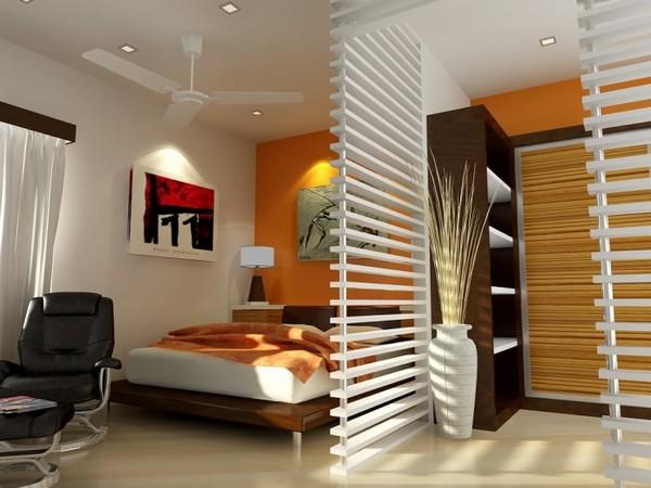 интерьер спальни совмещенной с гостиной фото