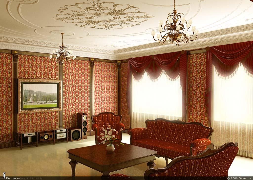 Дизайн гостиной в английском стиле