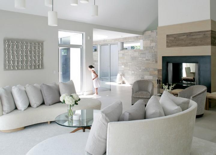 Дизайн гостиной загородного дома