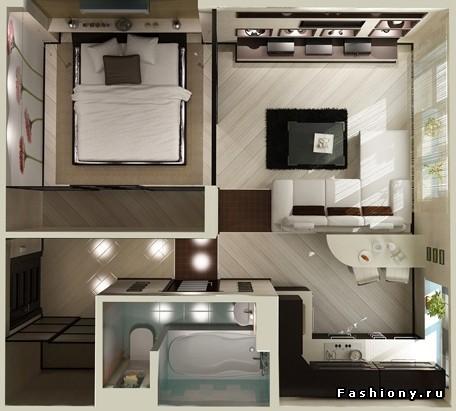 Дизайн интерьера квартир малогабаритных