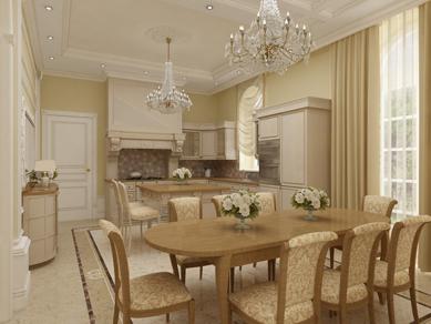 дизайн кухня гостиная столовая