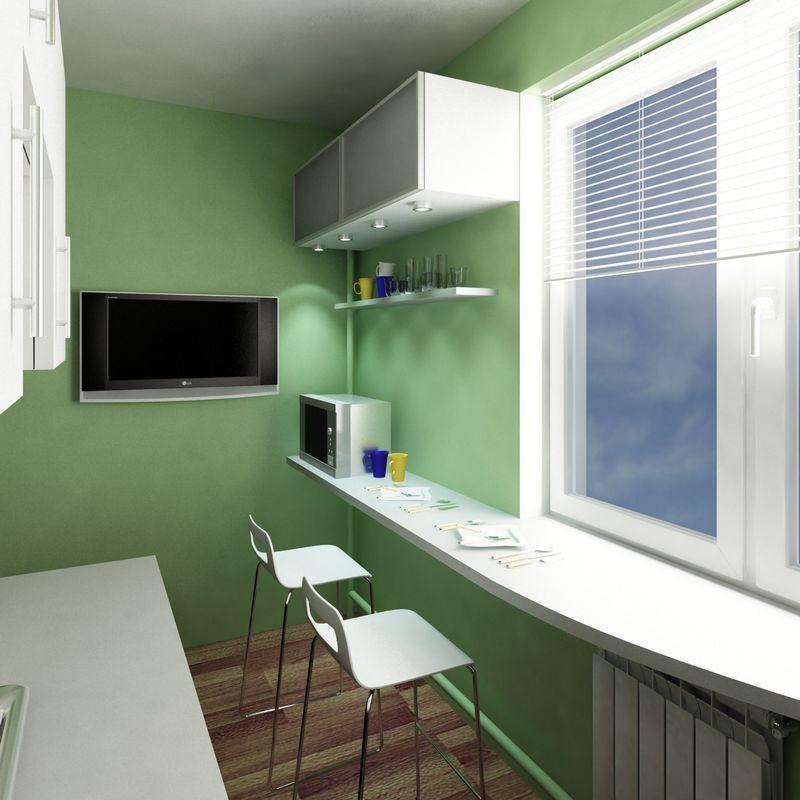 Дизайн малометражной кухни