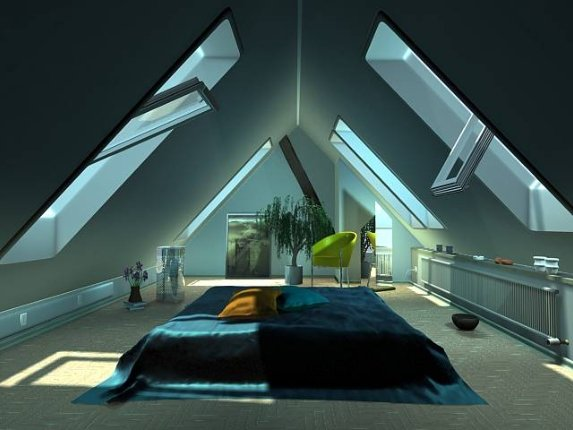 Дизайн мансардных комнат