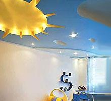 дизайн потолков в детской комнате