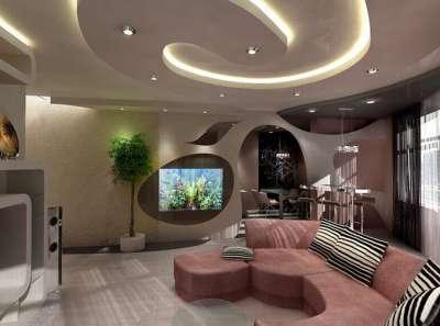 Дизайн проект гостиной в хрущевке