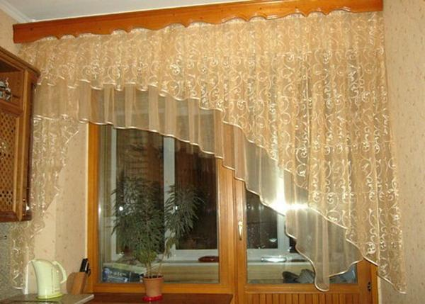 Дизайн штор для кухни своими руками